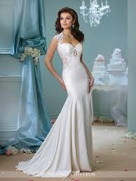 venise lace trumpet wedding dress