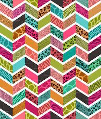 animal print chevron springtime palette wallpaper