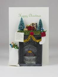 3d christmas cards miniature fireplace 3d christmas card by karrie barron