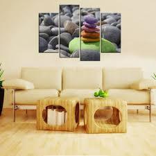4pcs living room decor wall art pebble balance stones meditation