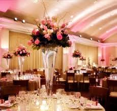 tall wedding centerpieces pink and ivory roses