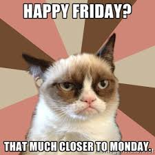 Grumpy Cat Meme Happy - happy friday cat clipart 2035932