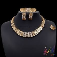 gold necklace set jewellery images Jewellery fashion most selling products pakistani gold jewelry set jpg