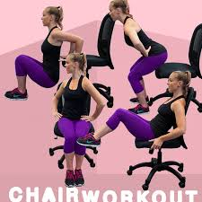 Desk Chair Workout Chair Workout Strength Training Exercises Training Exercises