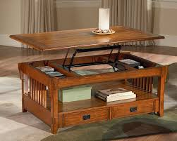 charming oak coffee table with lift top with additional home