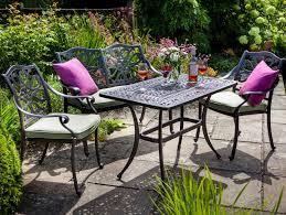 Metal Garden Chairs Hartman Capri High Coffee Set In Bronze Metal Garden Furniture