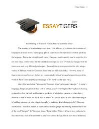 the meaning of words in paine s common sense essay sle