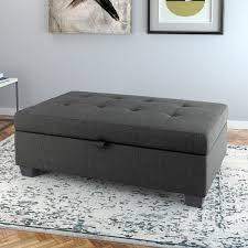 Grey Fabric Storage Ottoman Grey Fabric Storage Ottoman Throughout Idea 12 Willothewrist