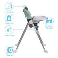 How To Fold A Graco High Chair Graco Contempo Slim Folding High Chair Bennett Model 24890002 Ebay