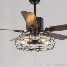 Chandelier Ceiling Fans With Lights Loft Vintage Ceiling Fan Light E27 Edison 5 Bulbs Pendant Ls