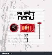 concept design invitation sushi restaurant vector stock vector