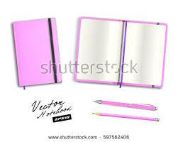 blank purple open closed copybook template stock vector 597562400