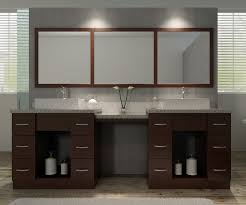 bathroom double sink vanity with makeup table using grey marble