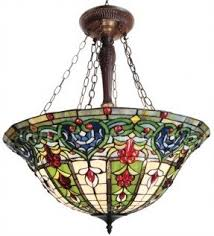 Glass Ceiling Light Fixtures Stained Glass Hanging Pendant Lamp Foter