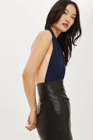 halter neck halter neck bodysuit by clothing topshop