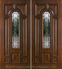 Exterior Wood Doors With Glass Panels by Furnitures Contemporary Home Interior Decoration Using Double