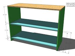Wood Shelves Plans by Ana White Build Your Own Office Wide Bookcase Base Diy Projects