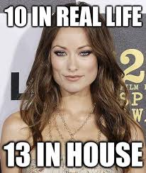House Meme - olivia wilde 10 in real life weknowmemes