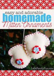 little family fun felt mitten ornament tutorial