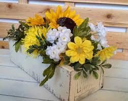 Sunflower Centerpiece Floral Arrangement Etsy
