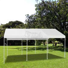 Outdoor Carport Canopy by Patio 10x20 Feet Heavy Duty Garage Outdoor White Carport Car