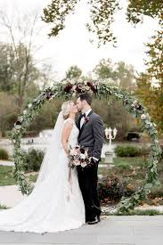 wedding wreath oversized floral wreath ceremony backdrops mon cheri bridals