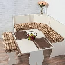 amazon com greendale home fashions 4 piece nook cushion set