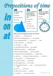 12 free esl prepositions of time worksheets for upper intermediate