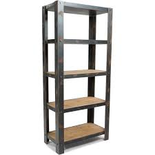 Reclaimed Wood And Metal Bookcase Industrial Reclaimed Wood And Metal Bookcase Hudson Goods Blog In