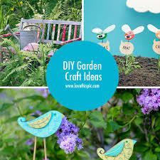 Craft Ideas For The Garden Diy Garden Craft Ideas
