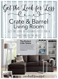 crate and barrel living room get the look for less crate barrel living room dwell beautiful