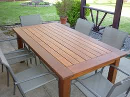Free Wooden Dining Table Plans by Nice Design Outdoor Dining Table Plans Wonderful Looking Diy