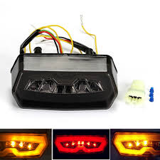 stop sign with led lights motorcycle turn signal tail light brake stop running indicator
