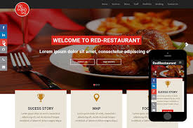 red restaurant free bootstrap themes 365bootstrap