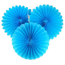 paper fan 5 turquoise tissue paper fan decorations pipii