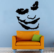 free shipping 5 sizes joker pop art image a matt vinyl wall