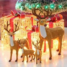 Christmas Deer Decorations Uk by Christmas Decoration Plush Reindeer Online Christmas Decoration
