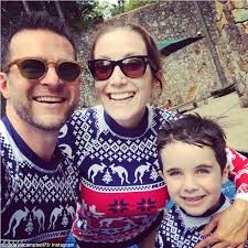 david cbell and family sport matching woolen rashies despite