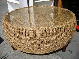 seagrass coffee table decofurnish ezra ottoman with deep st thippo