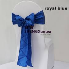 royal blue chair covers royal blue color taffeta pintuck chair sash chair bow fit for