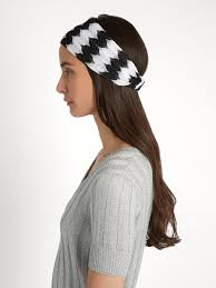 zig zag headband missoni mare zigzag knit headband womens black and white