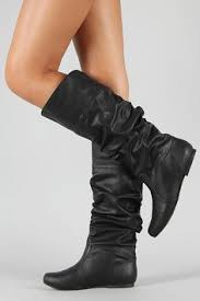 womens black knee high boots size 9 black lace up zipper combat womens flat knee high boots