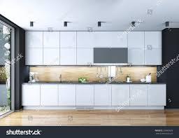 Kitchen Modern Style 3d Images Stock Illustration 259965878
