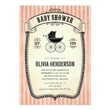 vintage baby shower invitations for invitation card