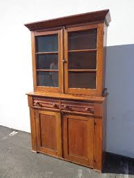 Heywood Wakefield China Cabinet Antique 1850 U0027s Hutch Cabinet Sideboard Primitive Shaker Walnut