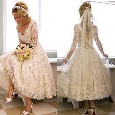 a line v neck 3 4 long sleeve lace wedding dress new arrival tea