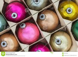 vintage ornaments in box stock photo image 33138446