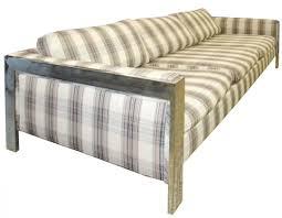 milo baughman mid century modern chrome sofa modernism