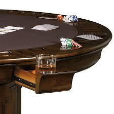 Table Cup Holder Pub U0026 Game Furnishings Six Player Round Storage Pedestal Game