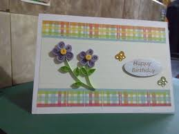 papercrafts quilled flowers birthday card